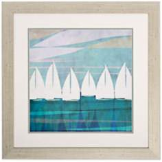 "Afternoon I 28"" Square Coastal Wall Art"