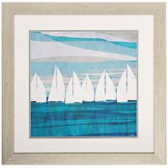 "Afternoon II 28"" Square Coastal Wall Art"