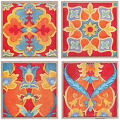 "Set of 4 Alhambra 13"" Square Wall Art Prints"