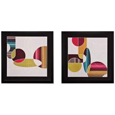 "Set of 2 Blast From The Past I/II 27"" Square Wall Art"