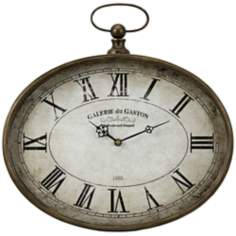 "Jefferson Pocket Watch Style 16 1/4"" Round Wall Clock"