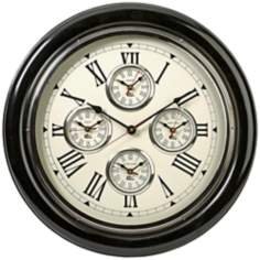"Five Country 22"" Round Wall Clock"