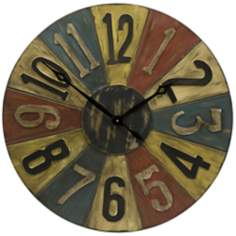 "Clarke Game Piece 30"" Round Wall Clock"