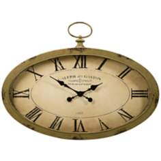 "Sophie 35 3/4"" Wide Oval Wall Clock"