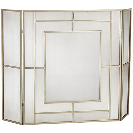 "Chadwicke Gold 35"" High 3-Panel Fireplace Screen"