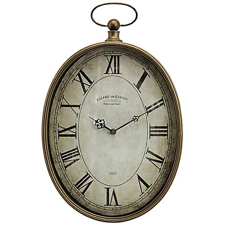 "Toledo 20 1/2"" High Pocket Watch Steel Wall Clock"