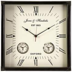 "Worldtimer 21"" Square Wall Clock"