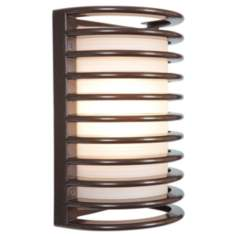 Access Poseidon Collection Bronze Cage Outdoor Sconce