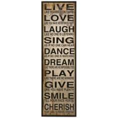 "Live Love Laugh 60 3/4"" Wall Art"