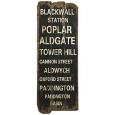 "London Town 29 1/4"" High Antique Black and White Wall Art"
