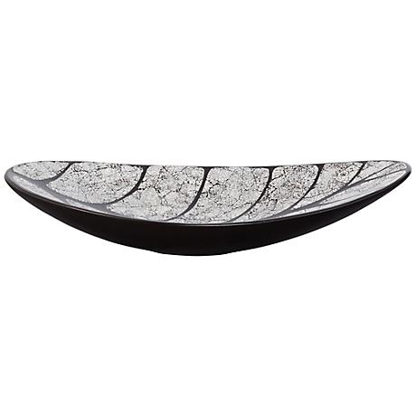Aspan Black and White Leaf Bowl