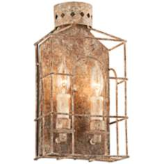 "Jasper Collection 14 1/4"" High Coastal Rust Wall Sconce"