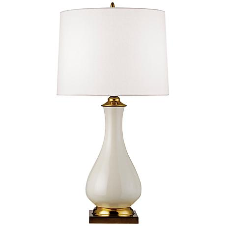 Currey and Company Lynton Cream Crackle Table Lamp