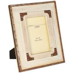 Dover Whitewash Wood 5x7 Photo Frame