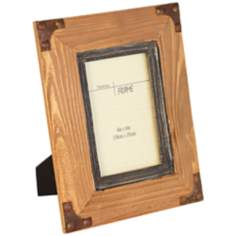 Benton Rustic Red Wood 4x6 Photo Frame