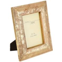 "Minerva Natural Gold Wood 5""x7"" Picture Frame"