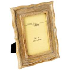"Solana White Washed Wood 5""x7"" Picture Frame"