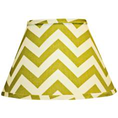 Empire Village Green Chevron Lamp Shade 9x16x12 (Spider)