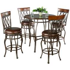Delato Pub Table with 4 Bella Counter Stools