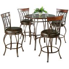 Delato Pub Table with 4 Palermo Bar Stools