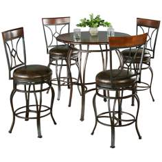 Delato Pub Table with 4 Starletta Counter Stools