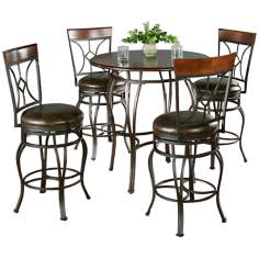 Delato Pub Table with 4 Starletta Bar Stools