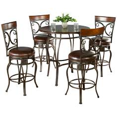 Delato Pub Table with 4 Treviso Bar Stools
