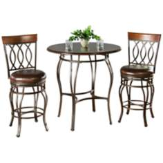 Delato Pub Table with 2 Bella Bar Stools