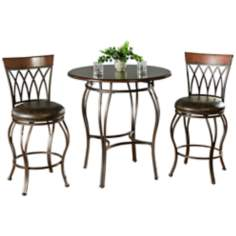 Delato Pub Table with 2 Palermo Counter Stools