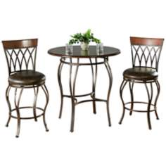 Delato Pub Table with 2 Palermo Bar Stools