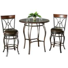 Delato Pub Table with 2 Starletta Bar Stools