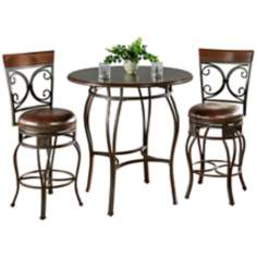 Delato Pub Table with 2 Treviso Bar Stools