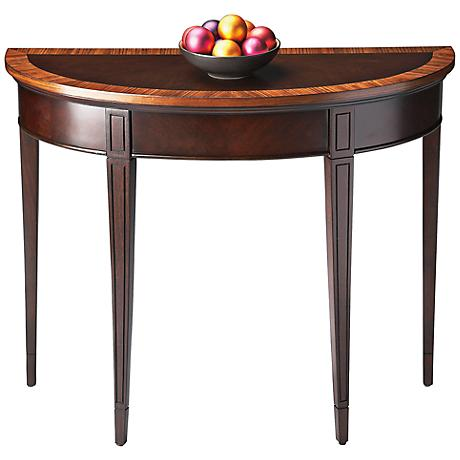 Masterpiece Cherry Demilune Console Table
