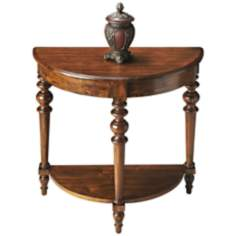 Masterpiece Cinnamon Demilune Console Table