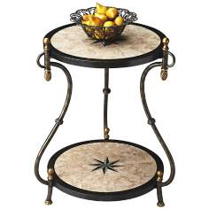 Metalworks Black Brass Demilune Console Table