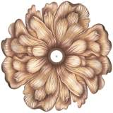"Flower Bloom 36"" Wide Repositionable Ceiling Medallion"