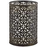 Bettina European Bronze Metal Pillar Candle Holder