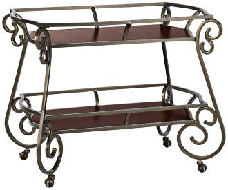 Bombay Avery Metal and Wood Rolling Tea Cart (2T456)