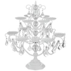 Whitney White and Faux Crystal Cupcake Stand