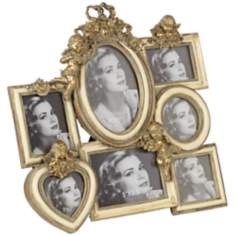 Analissa Gold Multi Hanging Photo Frame