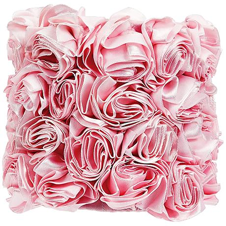 Pink Rosettes Drum Lamp Shade 5x5x4.75 (Clip-On)