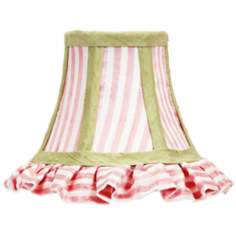 Ruffled And Striped Bell Lamp Shade 3x5x4.5 (Clip-On)