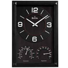 "Bulova Concept 12 3/4"" High Rectangular Wall Clock"