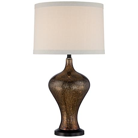 Braswell Copper Crackle Glass Table Lamp