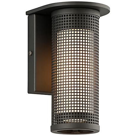 "Hive Collection 8 1/2"" High Black LED Outdoor Wall Light"