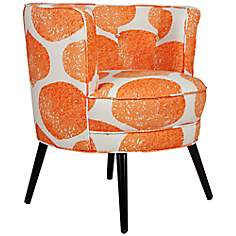 angelo:HOME Lily Orange YoYo Accent Chair