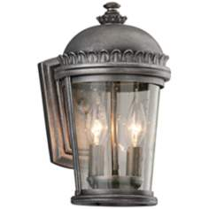"Ambassador Collection 12"" High Pewter Outdoor Wall Light"