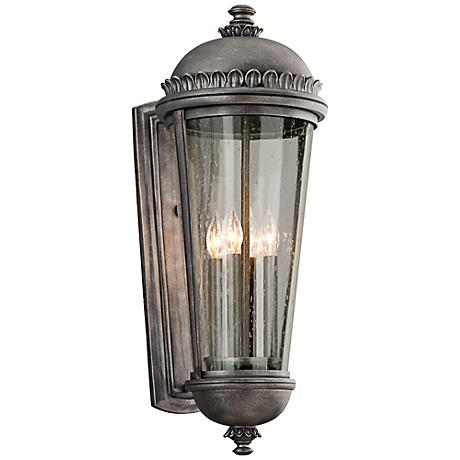 "Ambassador Collection 27 1/2"" High Pewter Outdoor Wall Light"