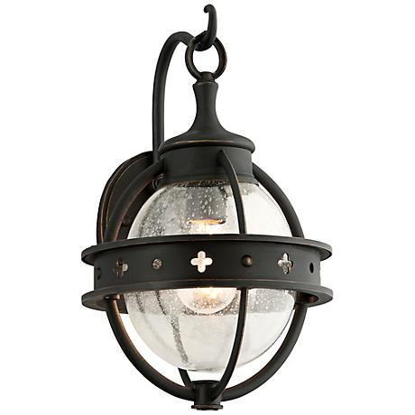 "Mendocino Collection 15"" High Black Outdoor Wall Light"