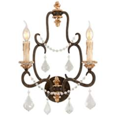 "Bordeaux Collection 20 3/4"" High Parisian Bronze Wall Sconce"